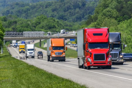 Heavy Traffic On The Interstate Highway